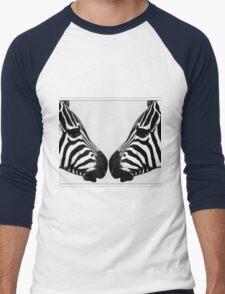Zebra Love Men's Baseball ¾ T-Shirt