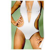 White Swimwear Poster
