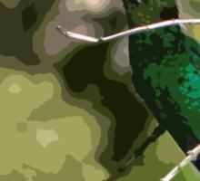 Chirping Irazu Hummer Sticker