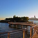 "Walkway to Pier ""C"" Hoboken by pmarella"