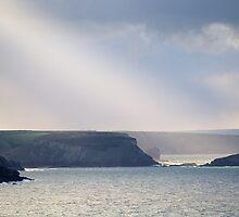 Sunbeams on the Cornish Coast by secondcherry