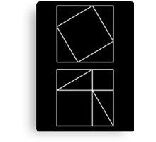 Pythagoras's Theorem Canvas Print