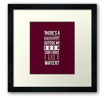 Signs Monster Typography Framed Print