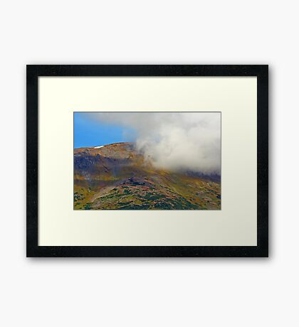 Cloud and Mountain Framed Print