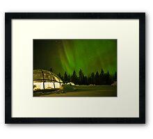 Nighttime in a Glass Igloo Framed Print