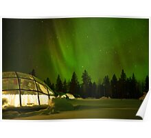 Nighttime in a Glass Igloo Poster