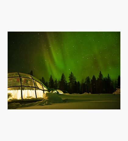Nighttime in a Glass Igloo Photographic Print