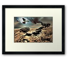 ShipWreck on Cape Cod Framed Print