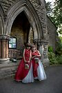 Twin bridesmaids by Paul Thompson Photography