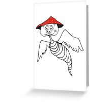 Death-cap mushroom bug Greeting Card