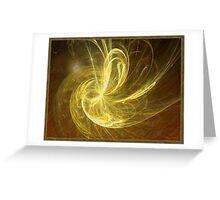 Moonlit Golden Fractal Greeting Card