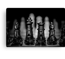 Chess 7: Watching the enemy lines Canvas Print
