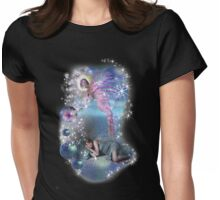 A novel can be a portal into parallel realities Womens Fitted T-Shirt