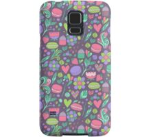 Macarons and flowers Samsung Galaxy Case/Skin