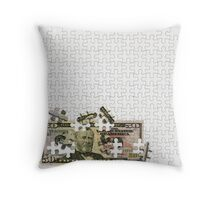 Savings and profits are composed with patience Throw Pillow
