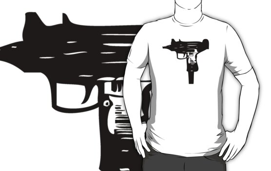Ironic Uzi Tee by TeeArt