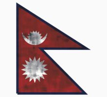Distressed Nepal Flag Kids Clothes
