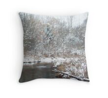 SNOWY CREEK IMPRESSION Throw Pillow