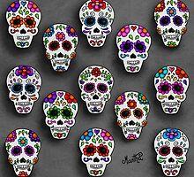 Martha´s mexican skulls (calacas) III by mmducoing