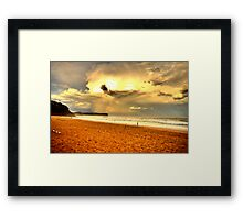 Loneliness - Warriewood Beach - The HDR Experience Framed Print