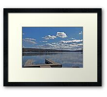 Empty Dock Framed Print