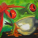 Red-eyed Tree frog by Harry Roberts