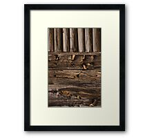 Weathered Wooden Abstracts – 4 – Vertical Framed Print