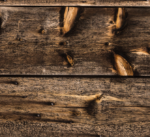 Weathered Wooden Abstracts – 4 – Vertical Sticker