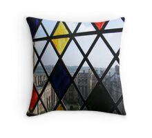 Through the Stained Glass Throw Pillow