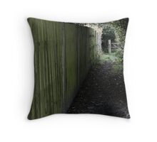 The Wandering Fence Throw Pillow