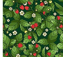 Strawberry pattern by JuliaBadeeva