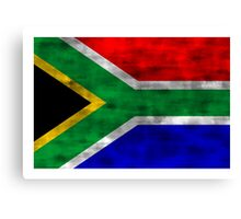 Distressed South Africa Flag Canvas Print