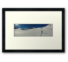 Ski Touring, Val d'Isere Framed Print