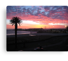 Port Melbourne Sunset over Cruise Terminal Canvas Print