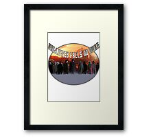 Gallifrey Throw Framed Print