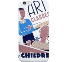 Art Classes for Children iPhone Case/Skin