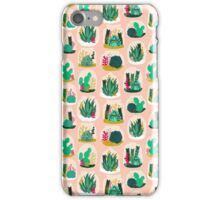 Terrariums - Cute little planters for succulents in repeat pattern by Andrea Lauren iPhone Case/Skin