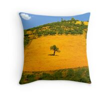 Squared tree Throw Pillow
