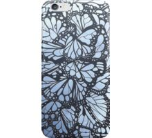 Purple butterfly stained glass window iPhone Case/Skin
