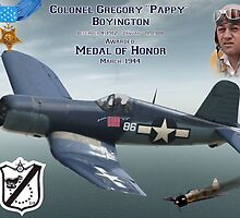 """Medal of Honor """"Pappy"""" Boyington by Mil Merchant"""