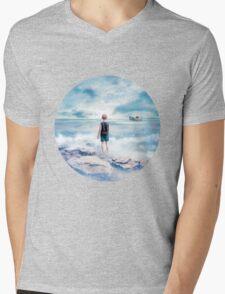 Waiting at the water's edge Mens V-Neck T-Shirt