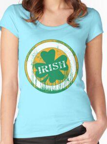 Dripping Irish Shamrock St. Patrick's Day Women's Fitted Scoop T-Shirt