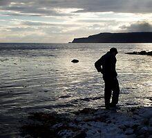 Water at his feet by erwina