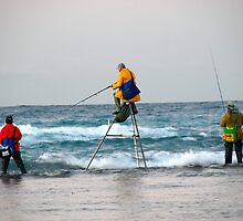Tripod Fisherman at Trigg's by HG. QualityPhotography