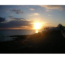 Sunset- Lanzarote - 2005 Photographic Print