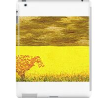 Cow in a yellow field... iPad Case/Skin