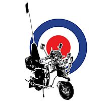 Scooter target - Mods 2 Photographic Print