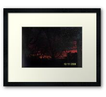 Red sky at night mean's sailer delete! Framed Print