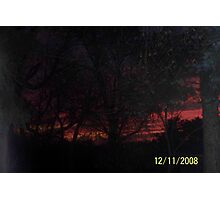 Red sky at night mean's sailer delete! Photographic Print