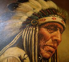 Native American Portrait by Maureen Bloesch